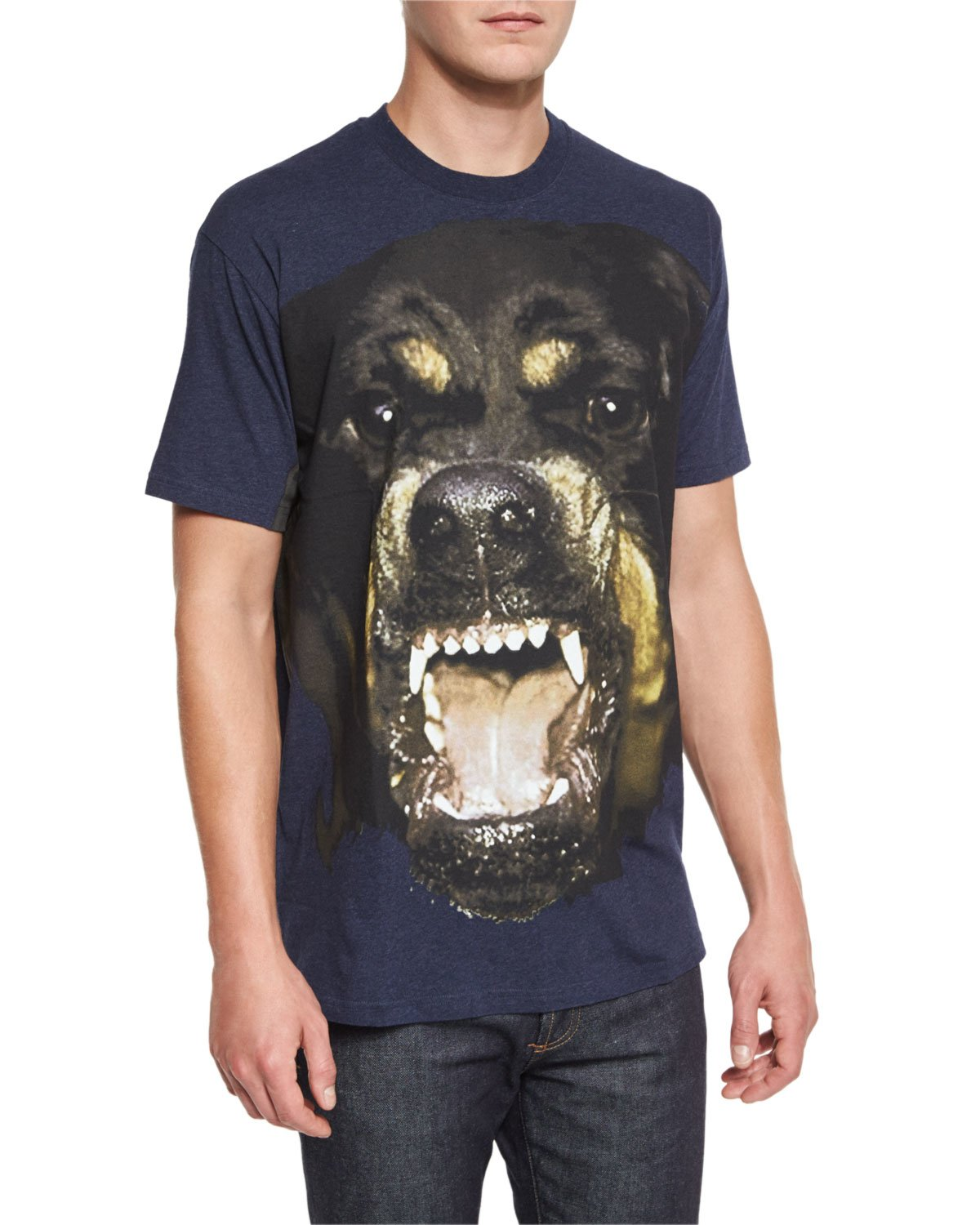 Givenchy rottweiler graphic t in blue for men lyst for Givenchy t shirt man