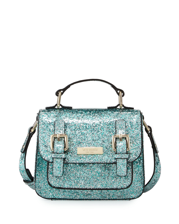 Kate spade new york Scout Glittered Cross-Body Bag in Blue ...