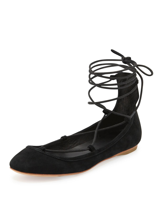 Joie Jenessa Lace Up Ballet Flats Women