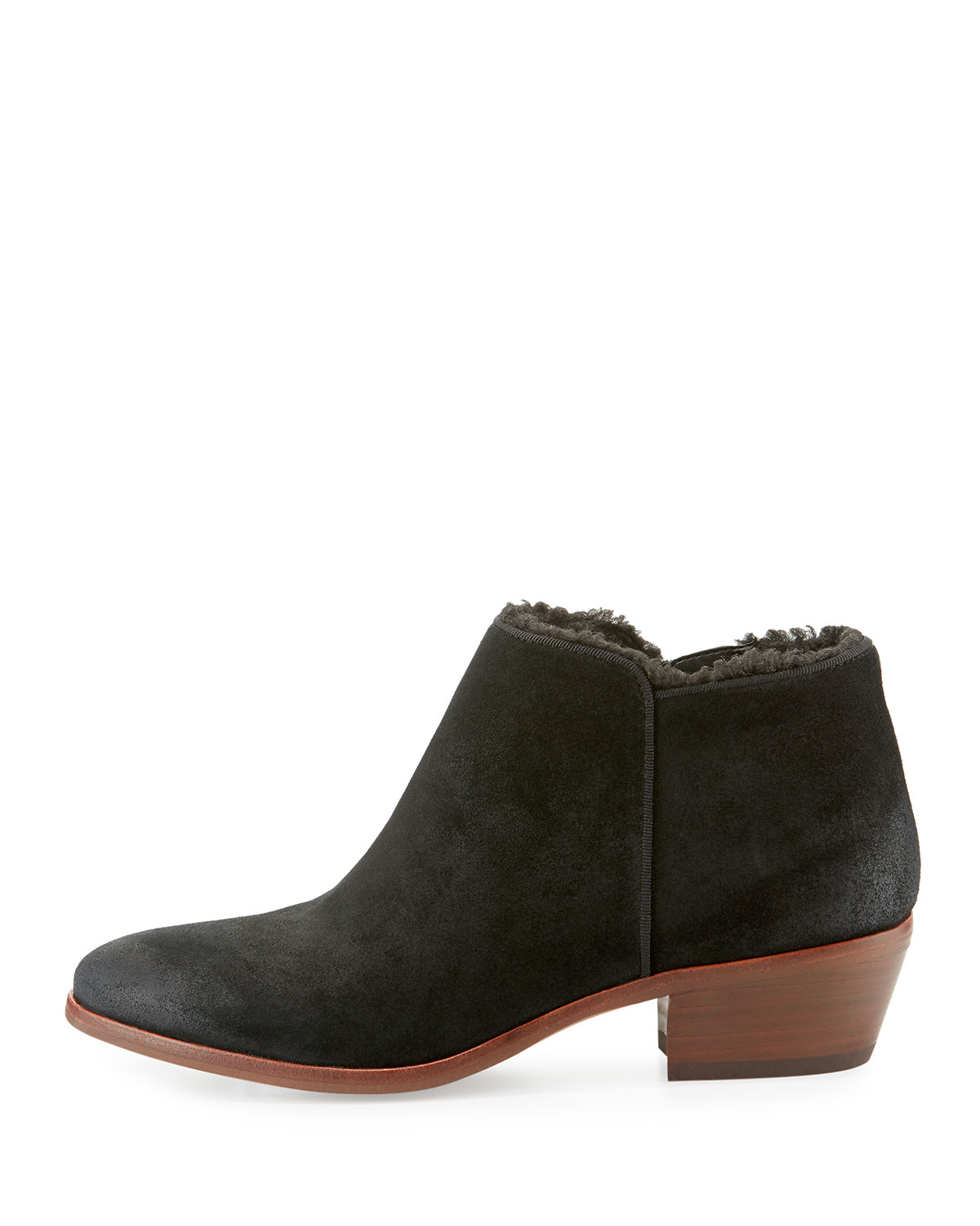 sam edelman petty suede ankle boots in black lyst