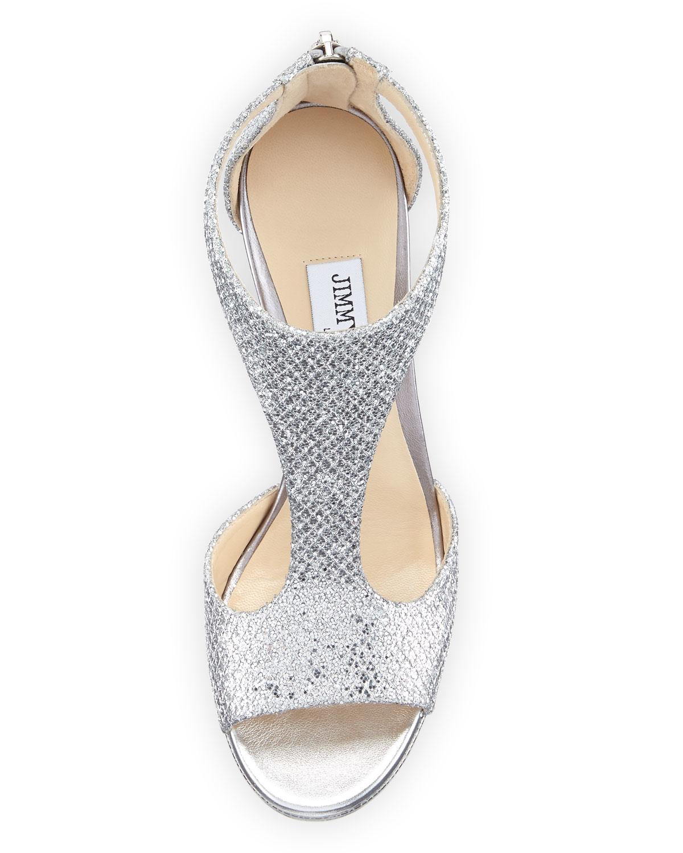 Jimmy Choo Lana  Women S Shoes Silver Glitter