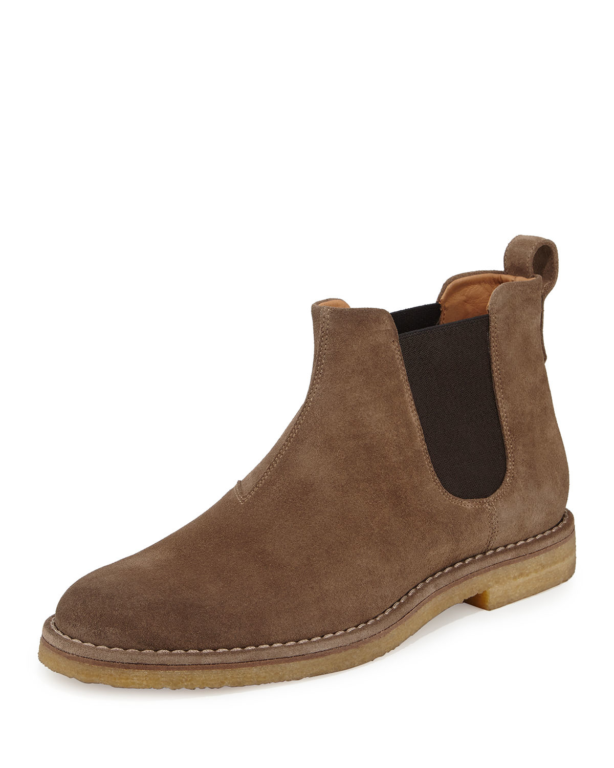 Vince Sawyer Suede Chelsea Boot In Brown For Men Lyst