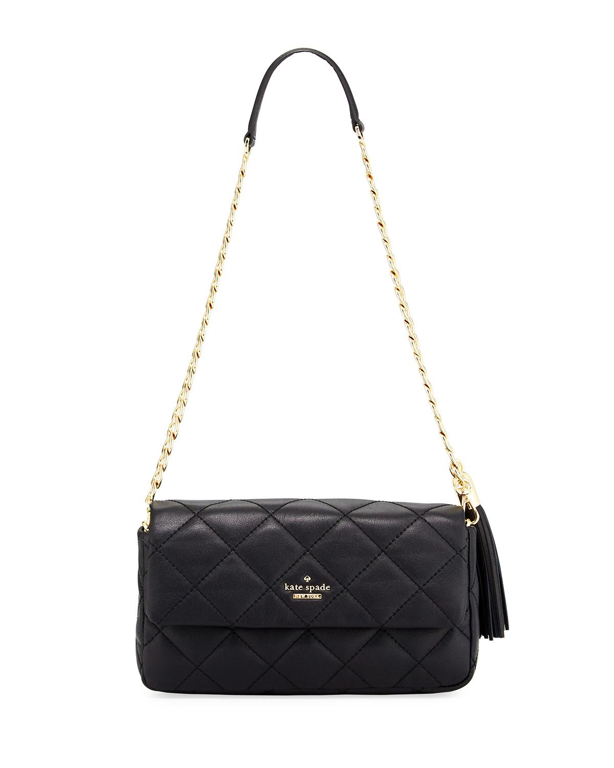 32ca08dcde4c2 Lyst - Kate Spade Emerson Place Serena Quilted Shoulder Bag in Black