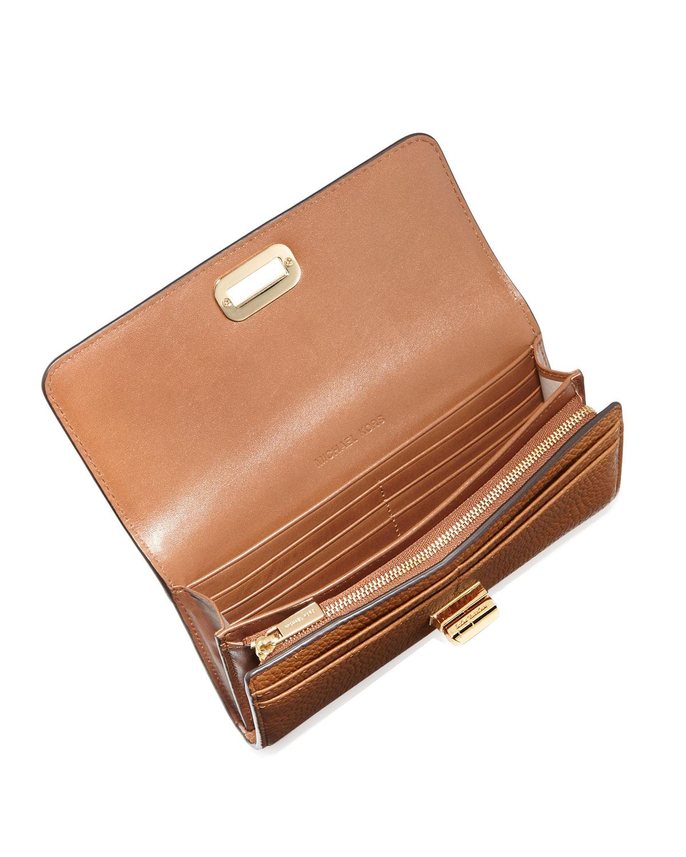 753ac0d07fed4 Lyst - MICHAEL Michael Kors Sullivan Large Leather Carryall Wallet ...