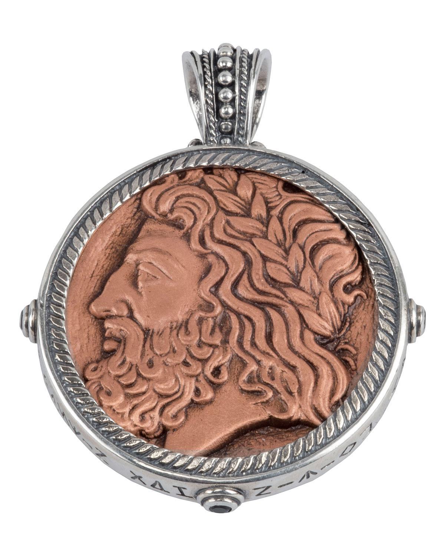 konstantino men's sterling silver  copper zeus pendant wspinel  - konstantino men's sterling silver  copper zeus pendant