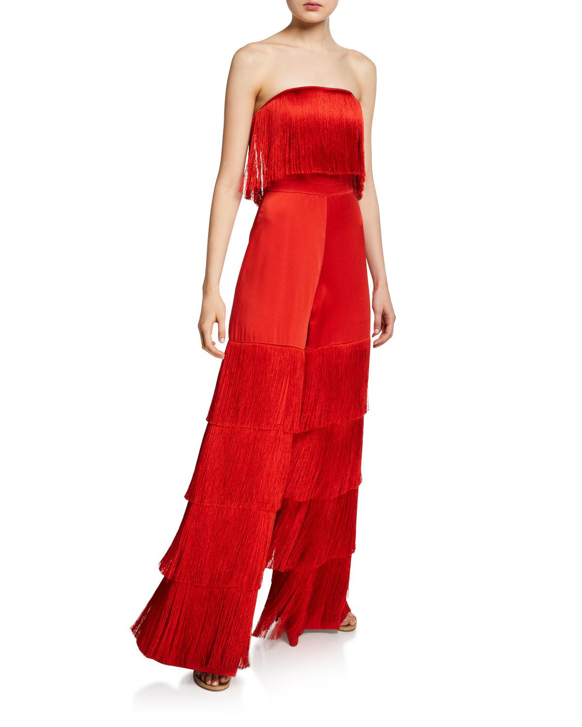 46a0639b7fe3 Lyst - Alexis Maxima Jumpsuit in Red