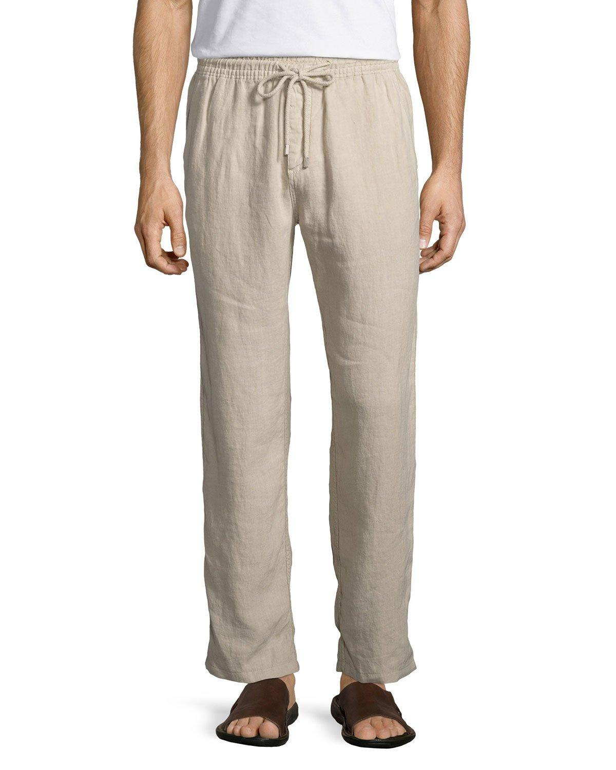 Linen blend drawstring pants for men. Most customers used this Pants at traveling to Cuba or the Caribbean, cruise attire, a night in Havana, great beach chic attire and resort allshop-eqe0tr01.cfry: Pants.