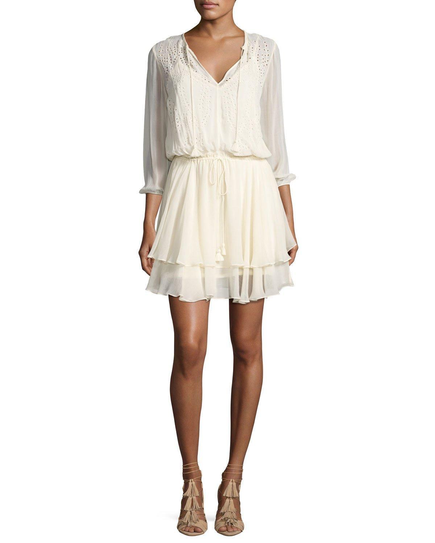 Trellis lace dress