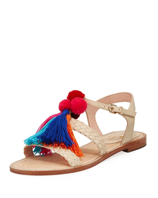 Kate Spade New York Sunset Tassel Strappy Sandal In Blue