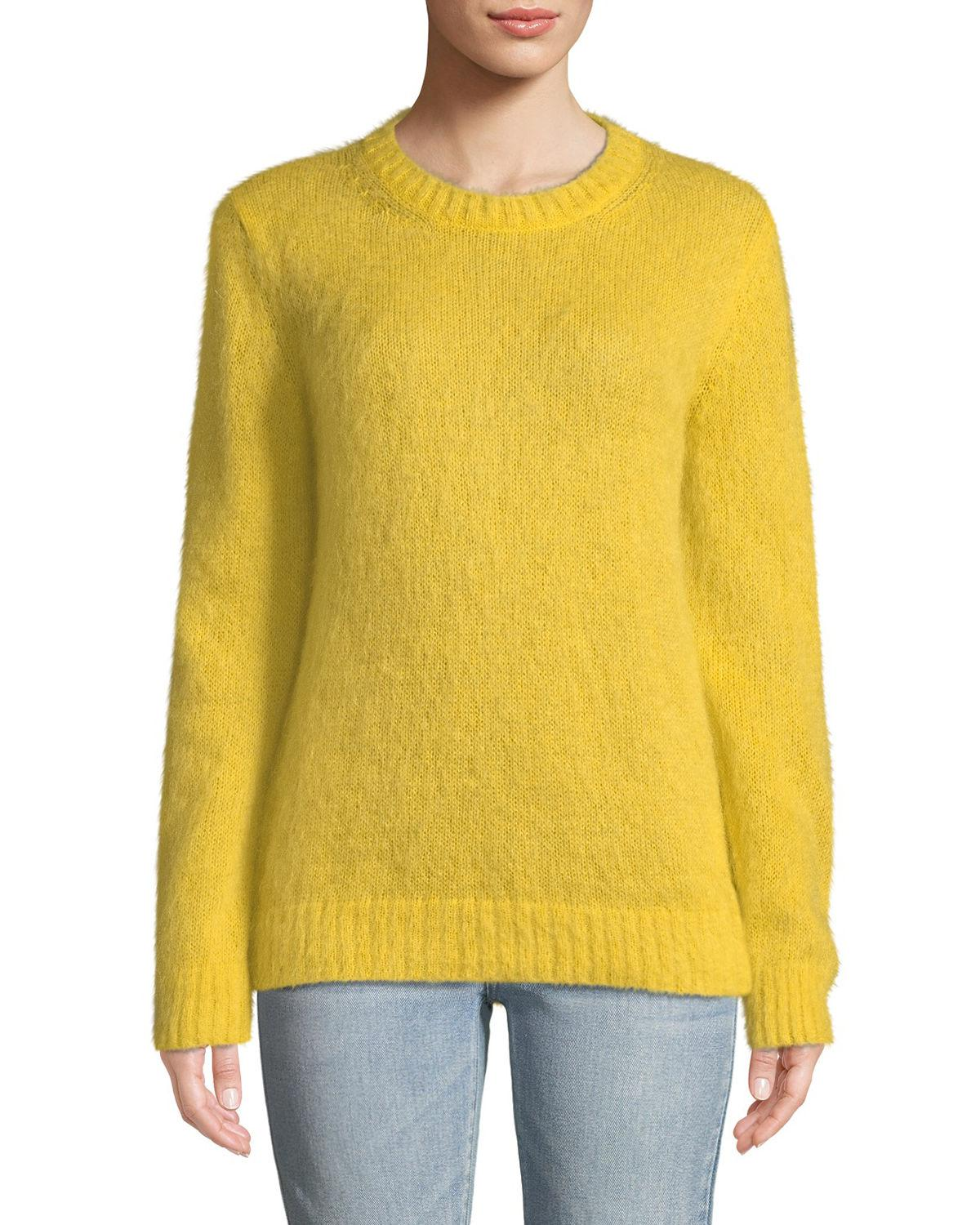 Moncler. Women's Yellow Mohair-blend Pullover Sweater
