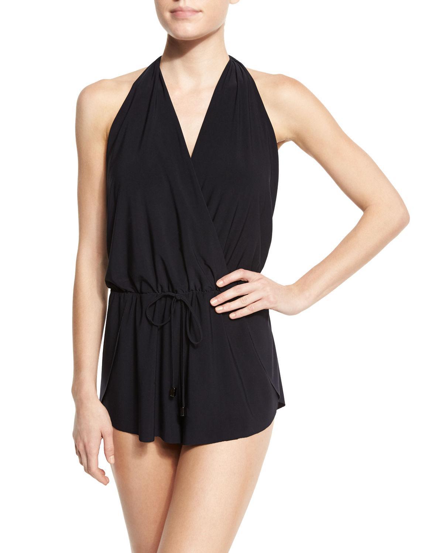 a8f938242d5 Magicsuitr - Black Solid Bianca Romper One Piece Swimsuit - Lyst. View  fullscreen