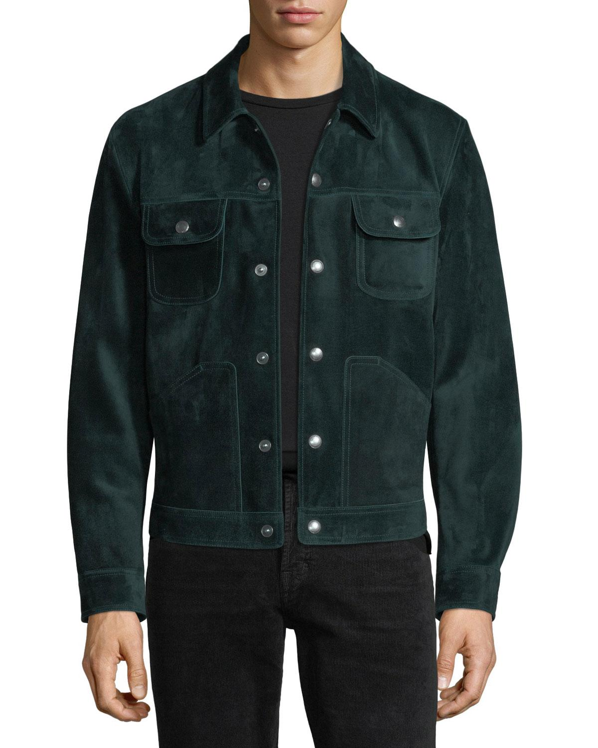For Tom Green In Suede Save Emerald Jean Men Jacket Ford 07W01qpa