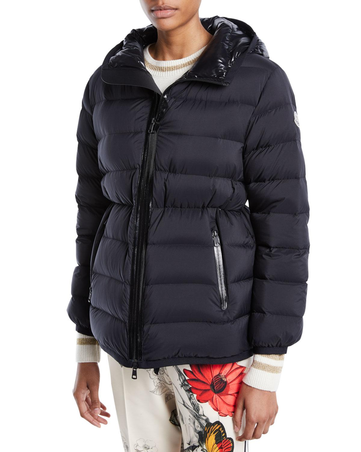1b277a279 Moncler Goeland Cinched Puffer Jacket in Black - Lyst