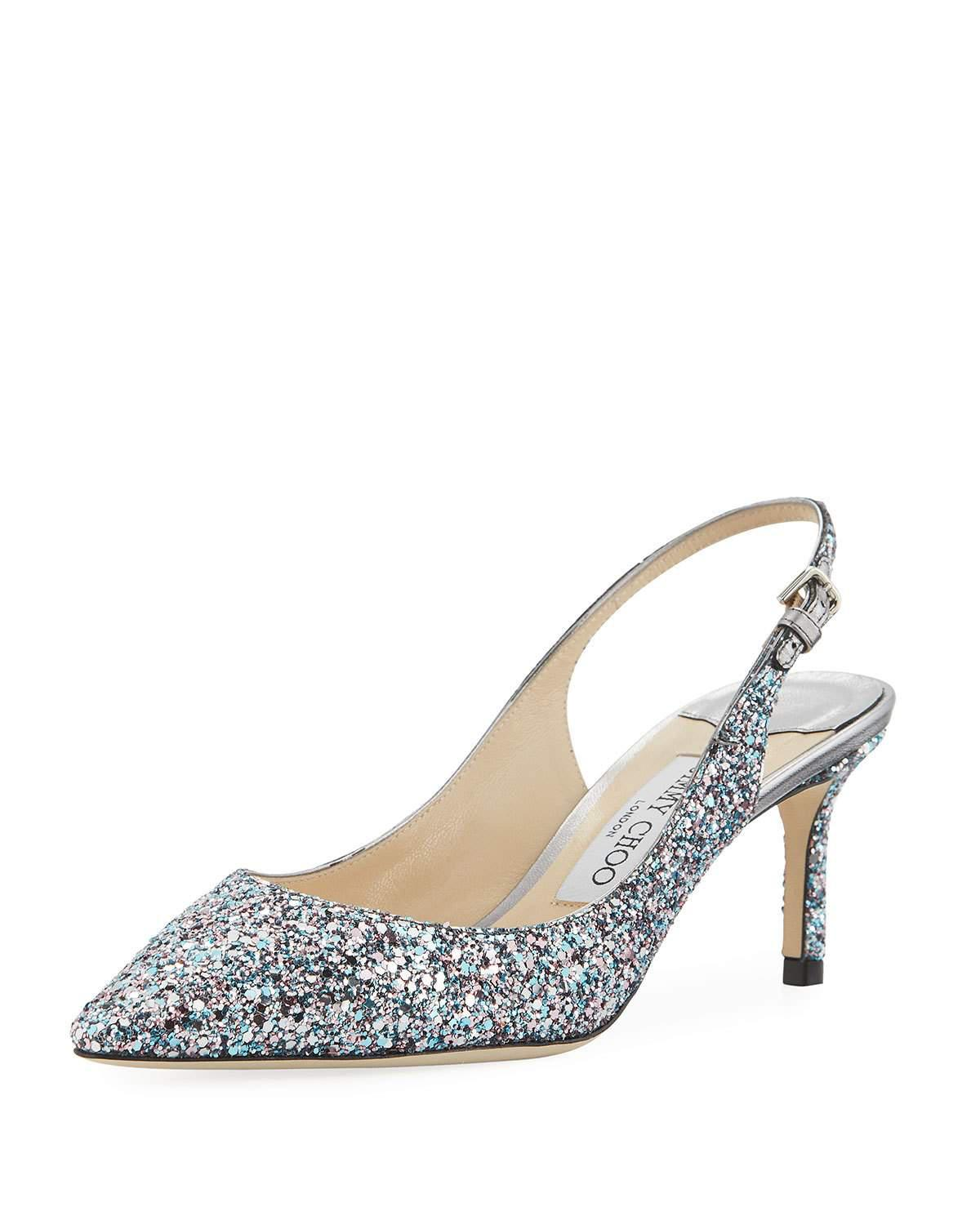 Jimmy choo 60MM ERIN GLITTERED SLINGBACK PUMPS exedxBbc