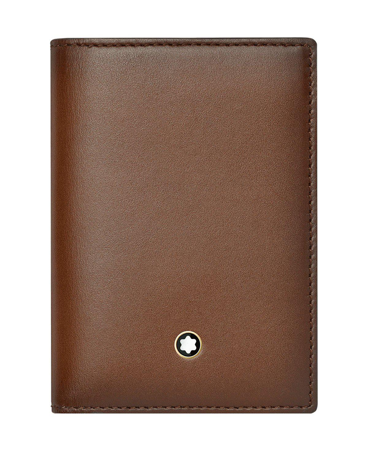 Montblanc Leather Business Card Holder in Brown for Men   Lyst