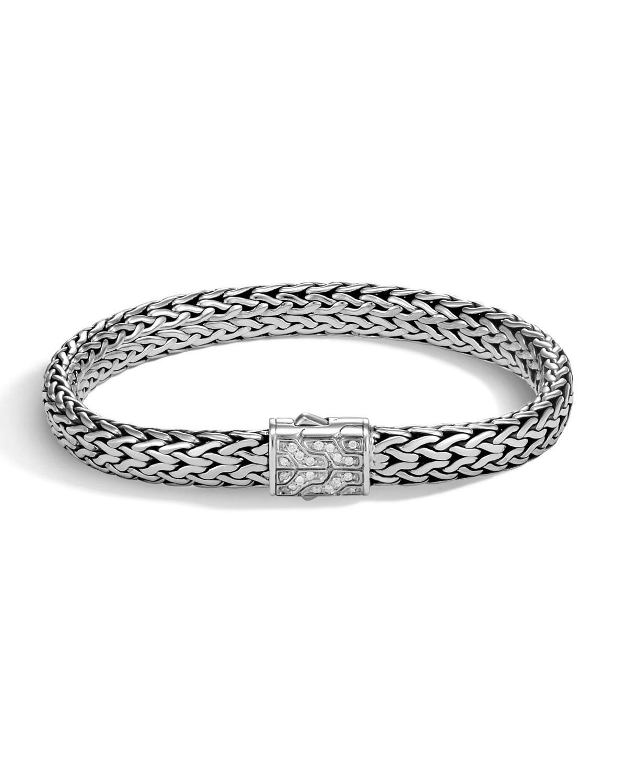 John Hardy Mens Classic Chain Bracelet w/ Sterling Silver, Size M