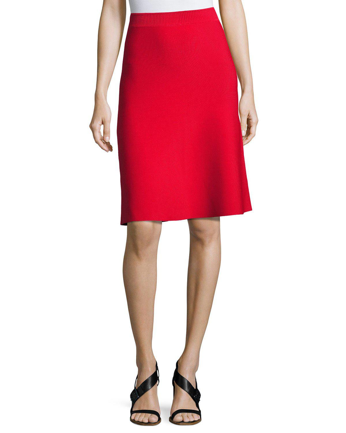 t by alexander wang stretch a line flare skirt in red save 30