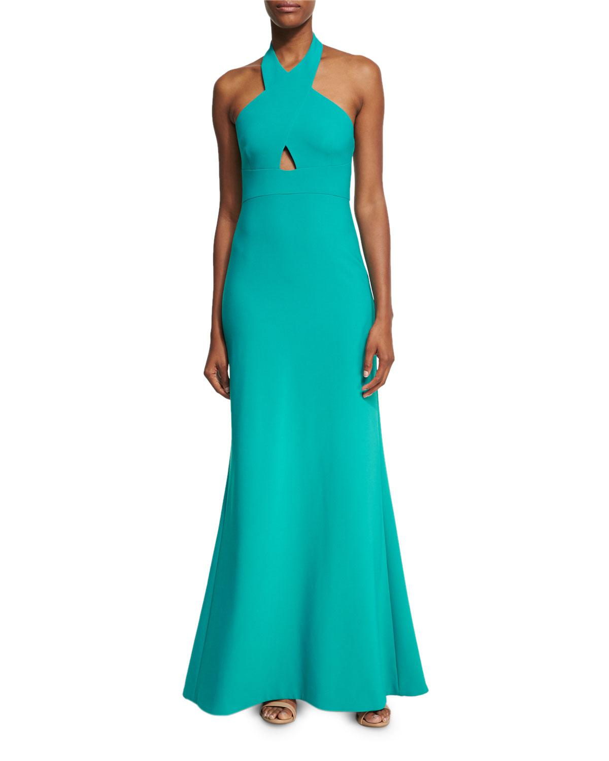 Lyst Likely Damen Crossover Neck Sleeveless Gown In Green