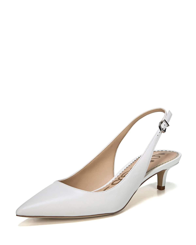 f7f90300094 Sam Edelman Ludlow Slingback Kitten-heel Pumps in White - Lyst