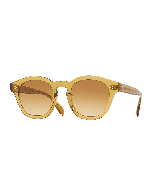 72efe911b79c Oliver Peoples. Yellow Men s Boudreau La 58 Gradient Acetate Sunglasses