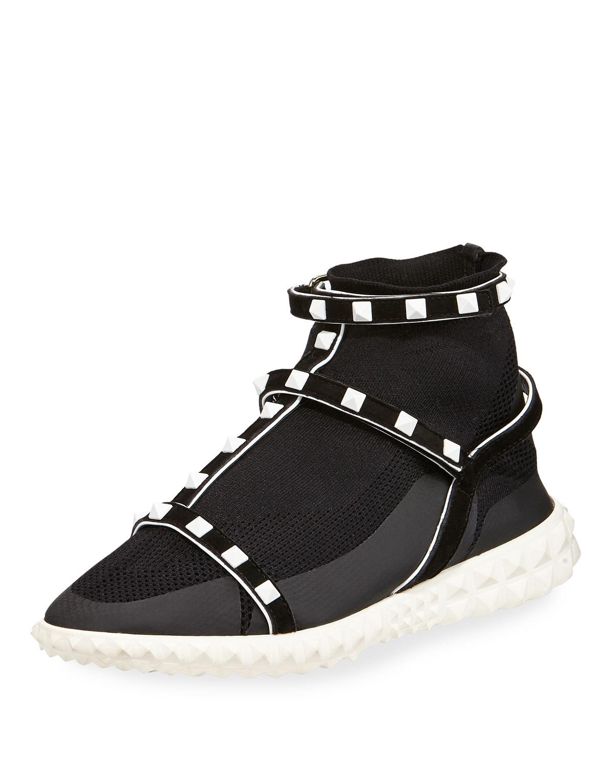 Rockstud Technical Knit Sneakers Valentino MuM2Af8