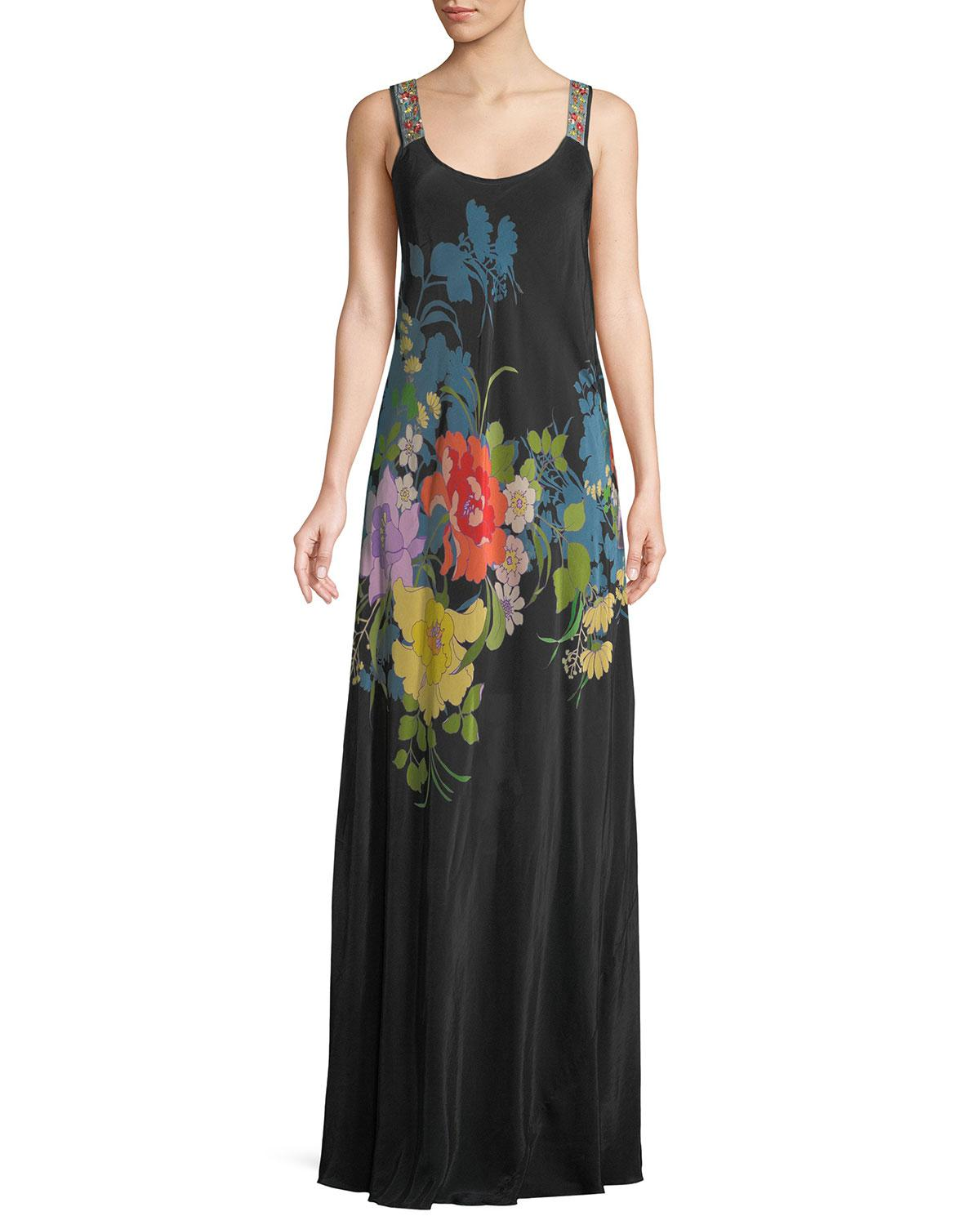 Johnny Was Fusion Sleeveless Floral-print Maxi Dress in ...