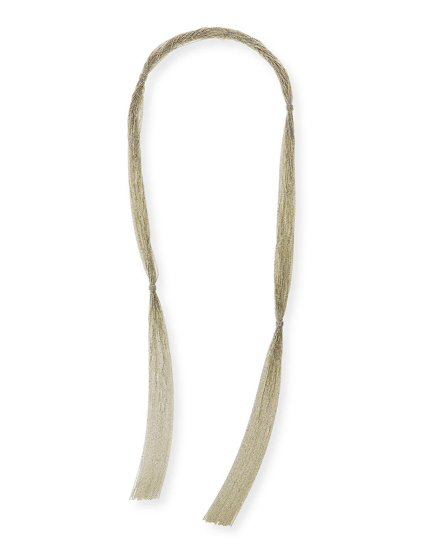 Brunello Cucinelli Variegated Choker Necklace w/ Long Monili Drop Ungu9Y64e