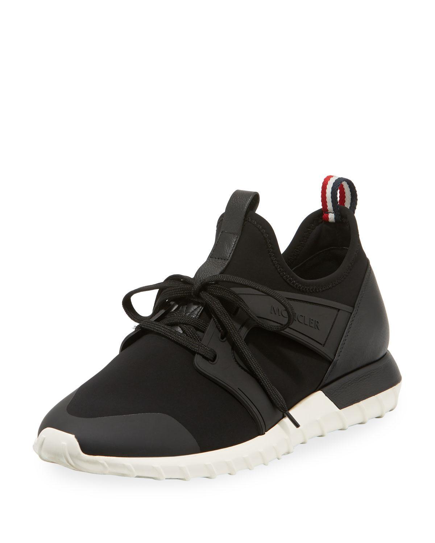 a989e1de2 Lyst - Moncler Men s Emilien Knit   Leather Training Sneakers in ...