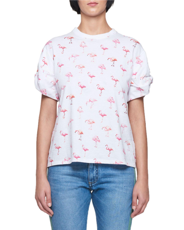 Victoria, Victoria Beckham. Women's White Flamingo-print ...