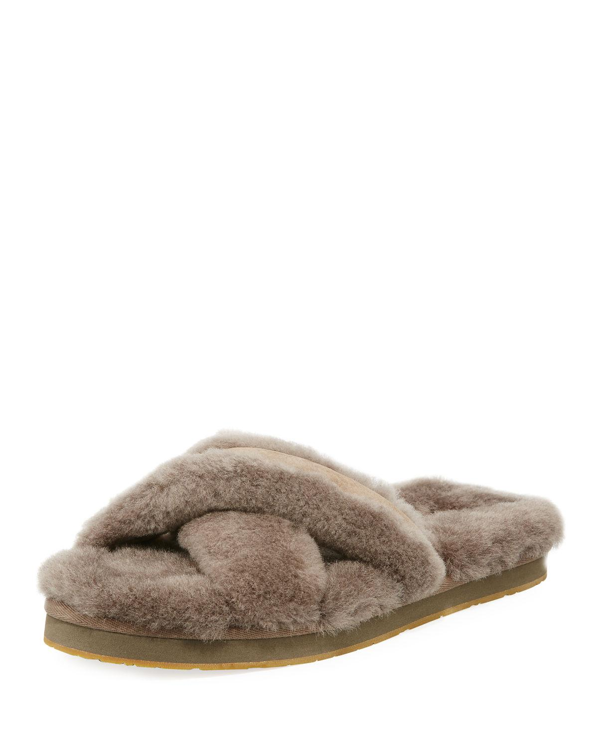 129648a8d62 UGG Abela Shearling & Suede Slipper - Save 33% - Lyst