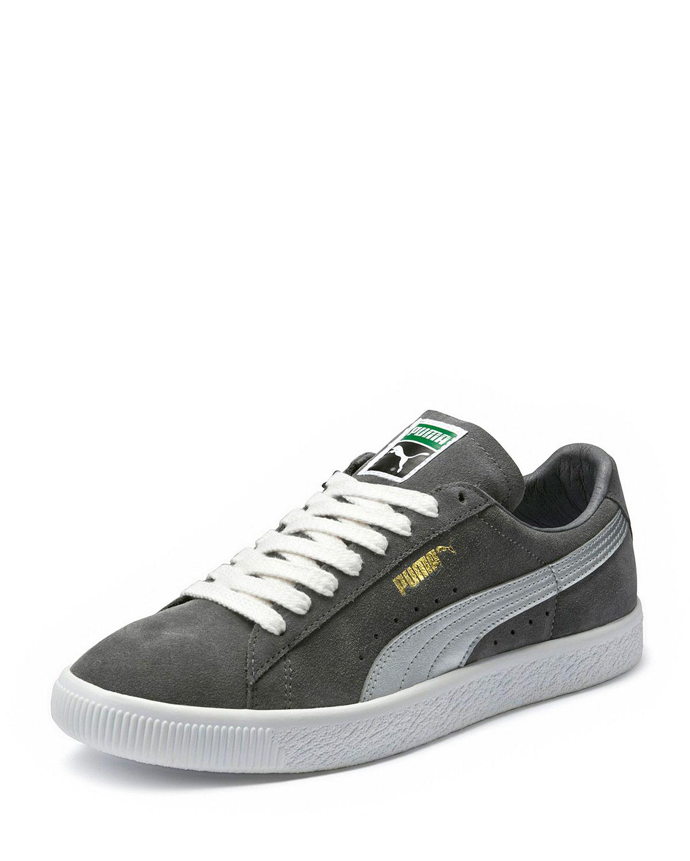 a141701c54b Lyst - PUMA Men s Clyde Suede Platform Low-top Sneakers in Gray for Men