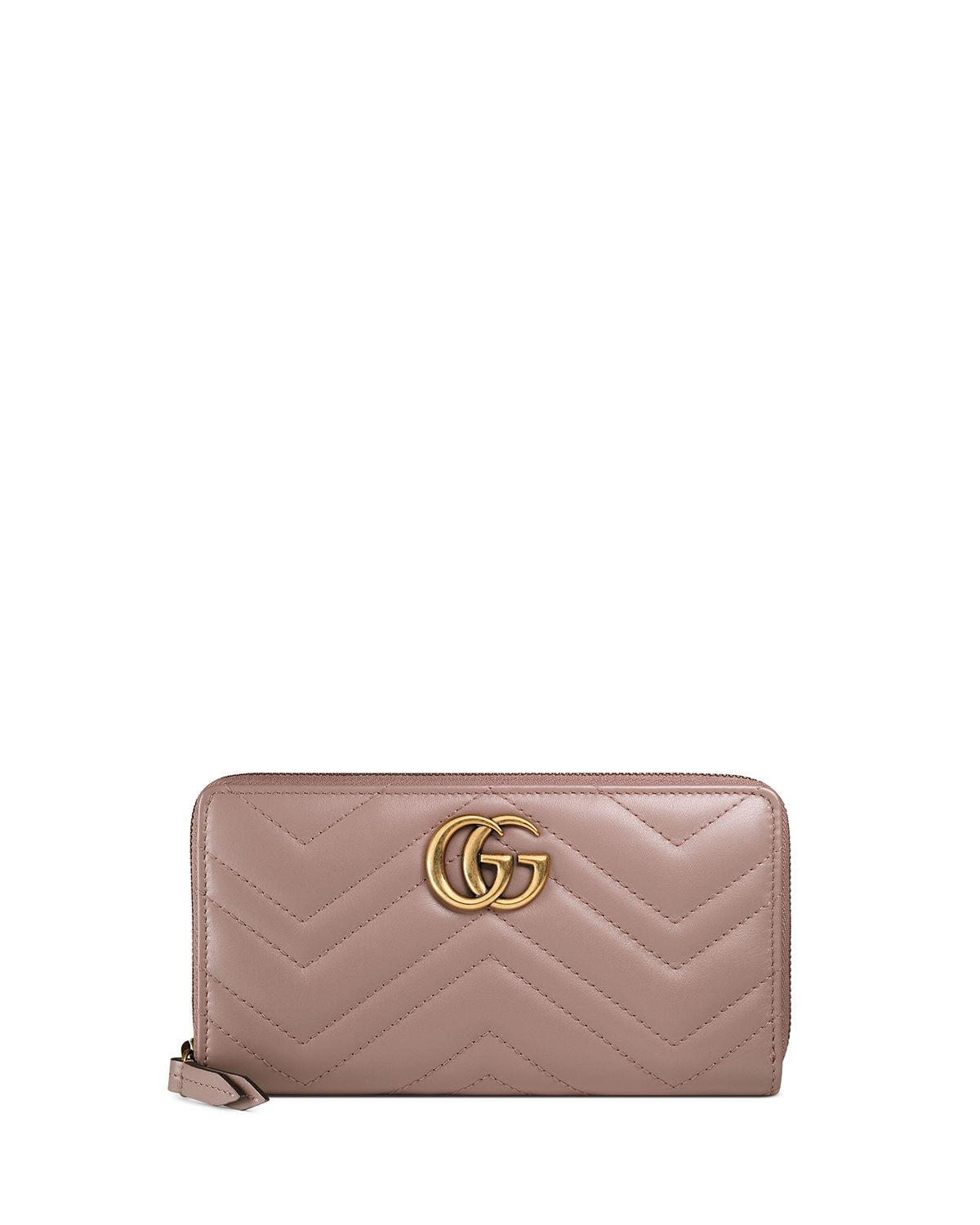 8b7f0a12ccb Gucci - Multicolor GG Marmont Medium Quilted Zip Wallet - Lyst. View  fullscreen