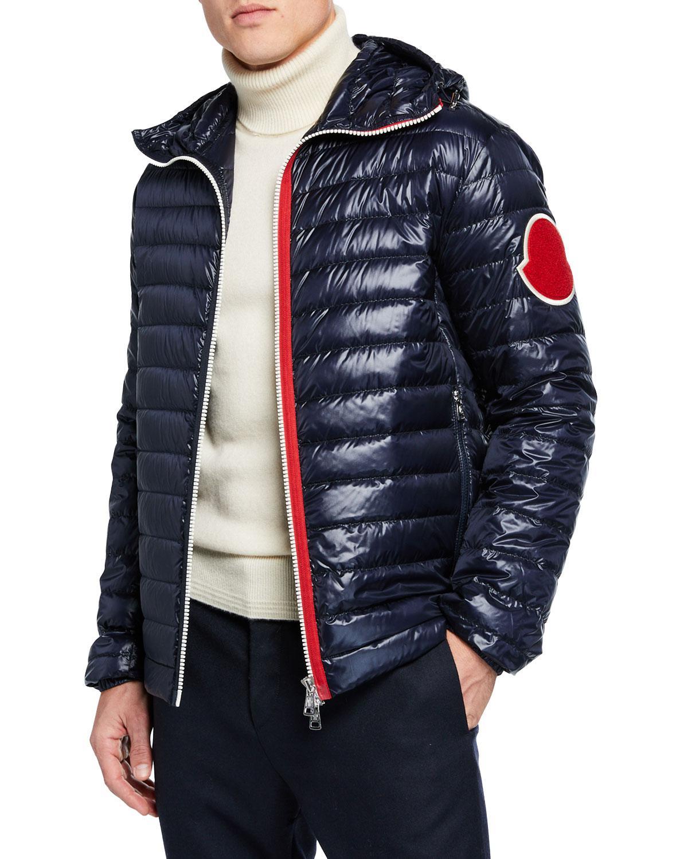 340a3d935015 Lyst - Moncler Men s Lartigue Puffer Jacket in Blue for Men