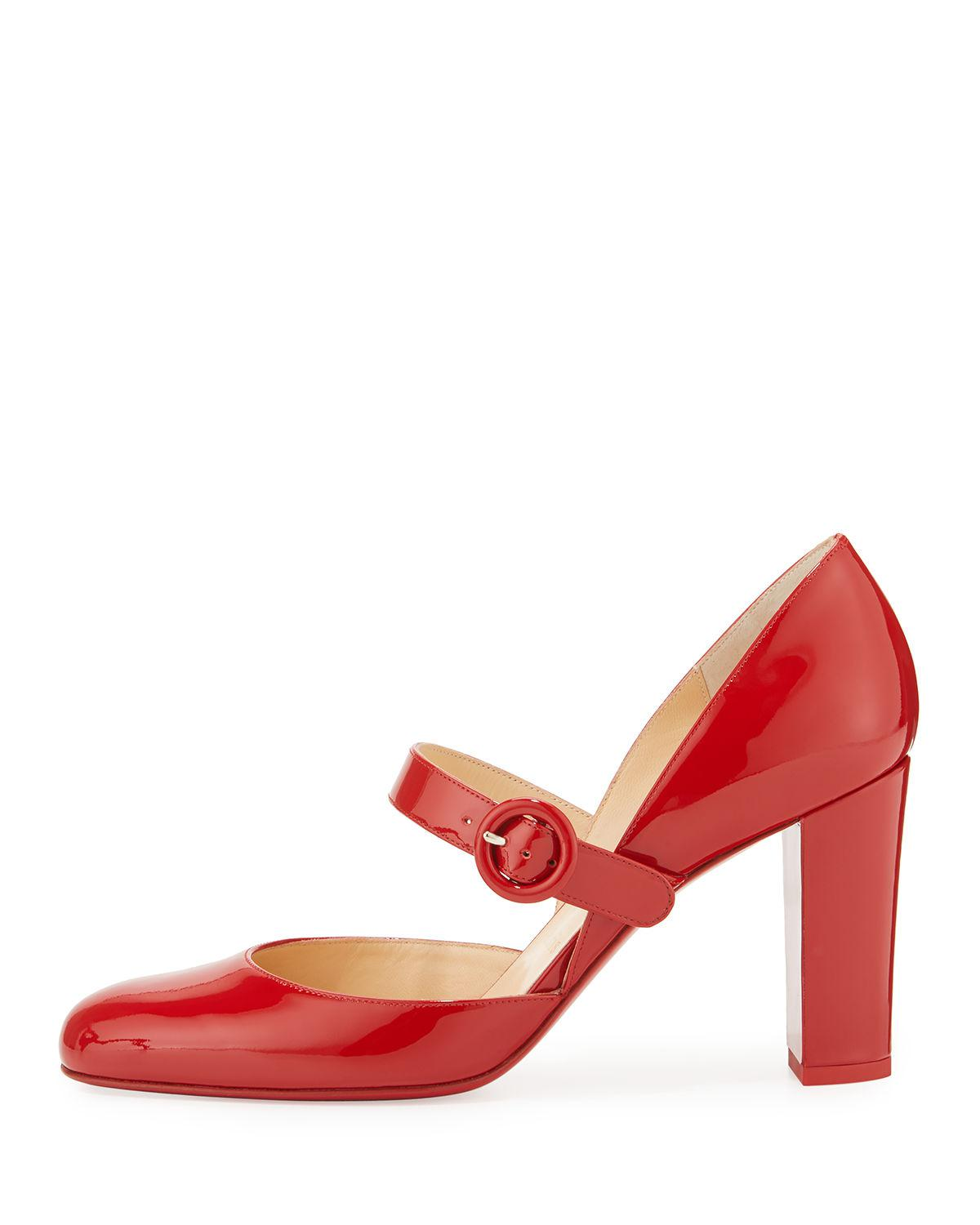 christian louboutin red mary jane