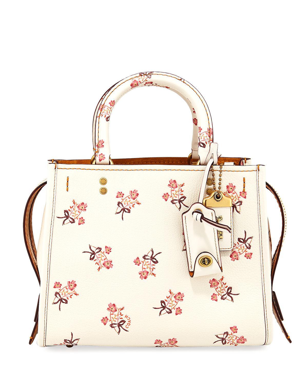 Lyst - Coach Rogue 25 Floral Bow Shoulder Bag