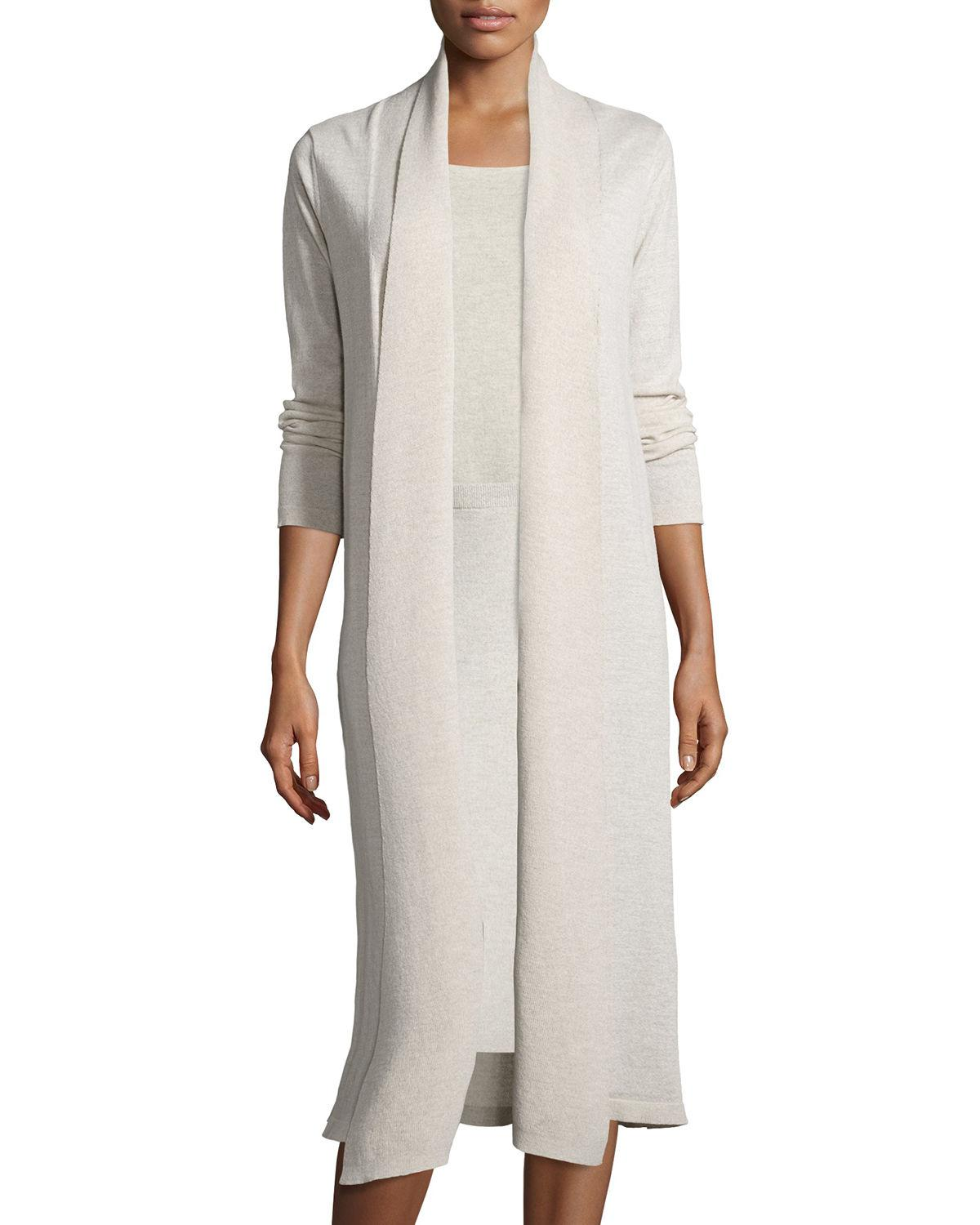 Eileen fisher Washable Wool Kimono Duster Cardigan | Lyst