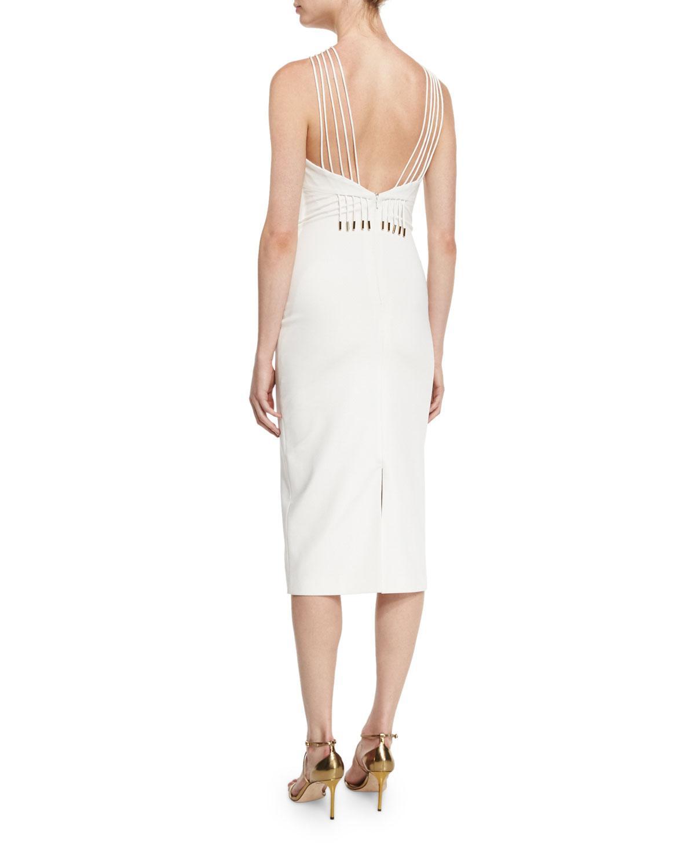 White multi strap dress