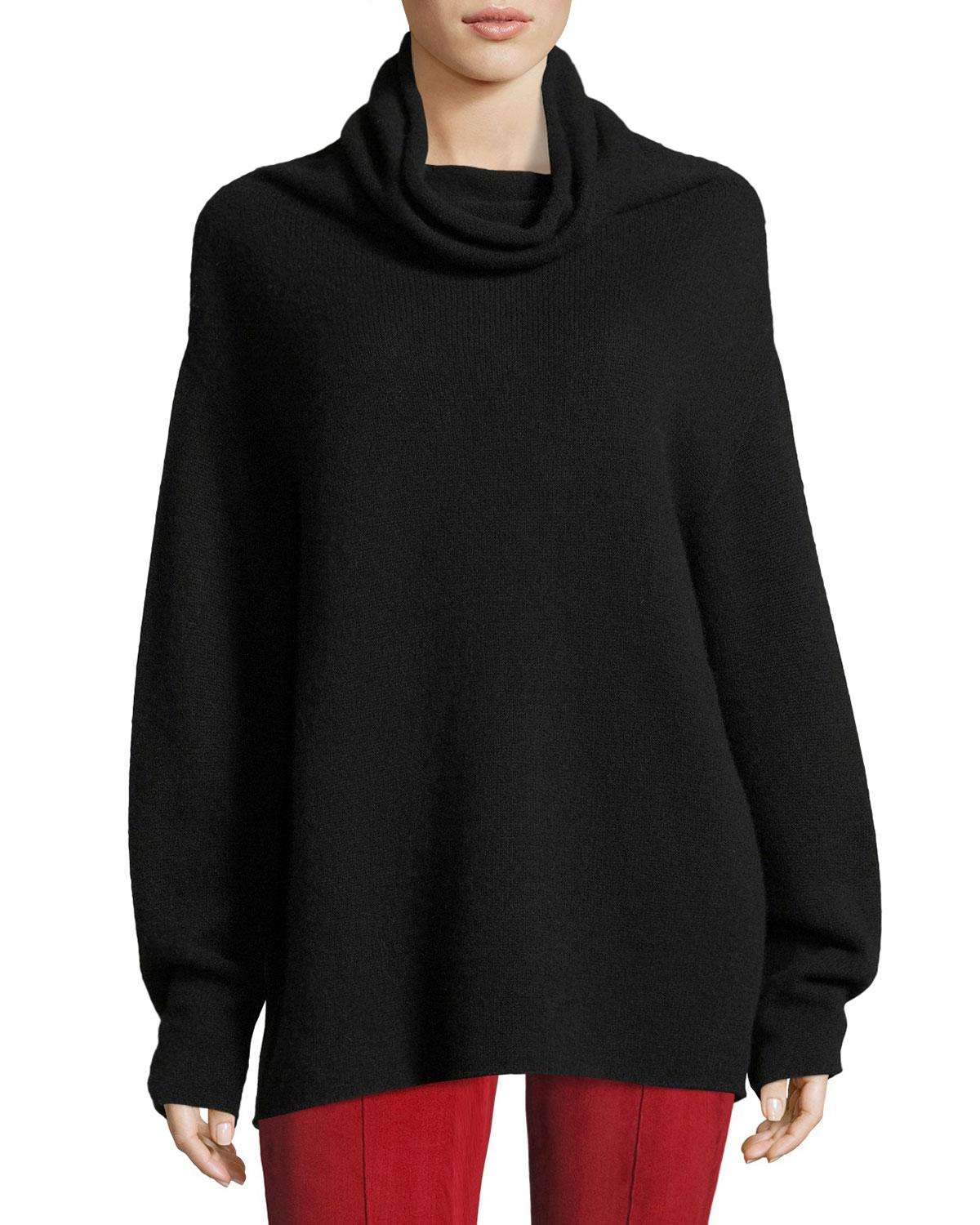 The row Lexer Oversized Cashmere Cowl-neck Sweater in Black | Lyst