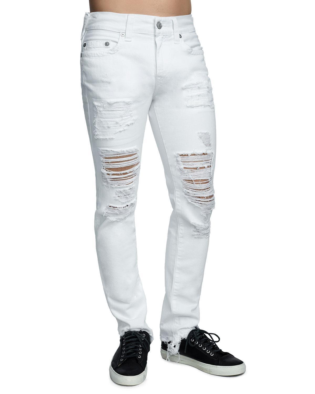 44df5a452615 Lyst - True Religion Men s Rocco Skinny Destroyed Denim Jeans in ...