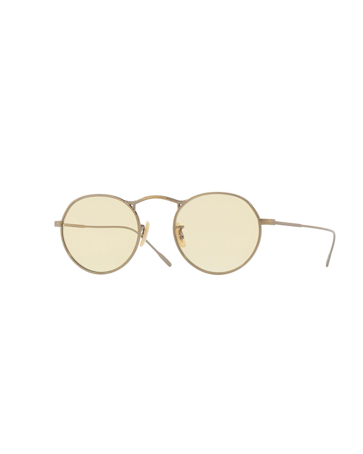 9d7c848a43d Oliver Peoples. Women s Metallic M-4 30th Mirrored Round Sunglasses.  455  From Neiman Marcus