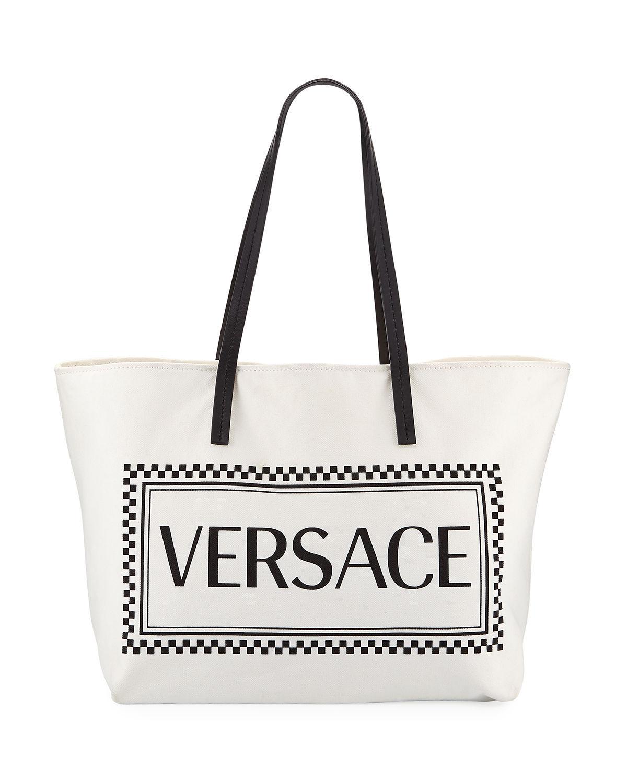 402910ab599d Versace - Black Logo Tote Bag - Lyst. View fullscreen