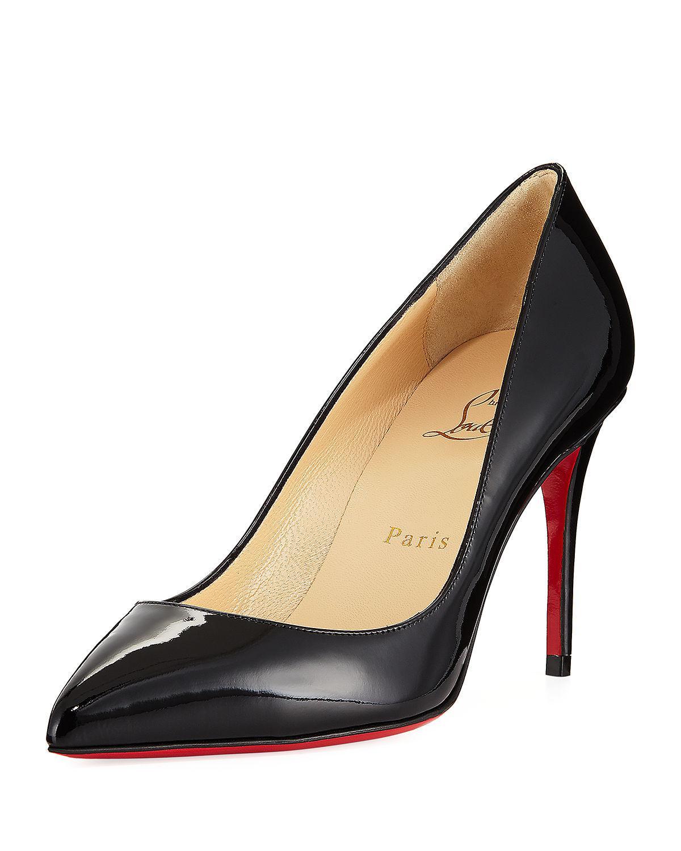 65b23925c05 Christian Louboutin. Women s Black Pigalle Follies 85mm Patent Red Sole Pump