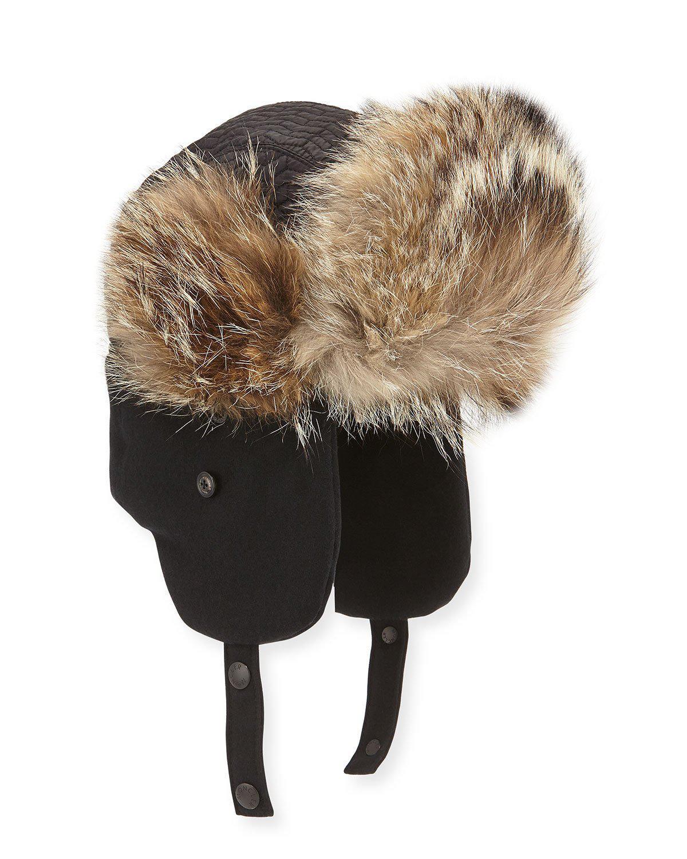moncler aviator hat