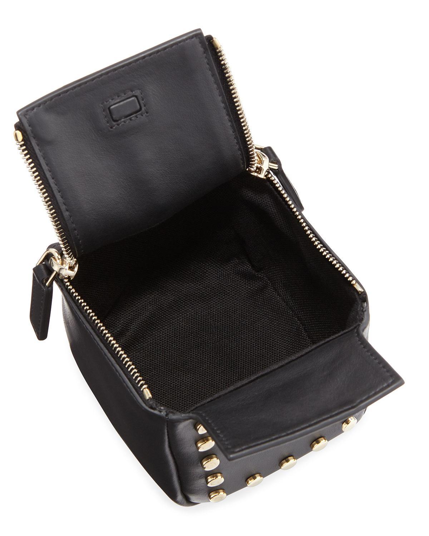 f71f699f79bf Lyst - Givenchy Pandora Cube Pouch Charm keychain in Black