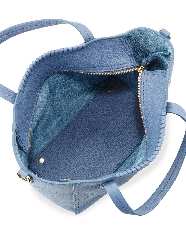 42dbffe6e8 Lyst - Ferragamo Marta Small Perforated Tote Bag in Blue