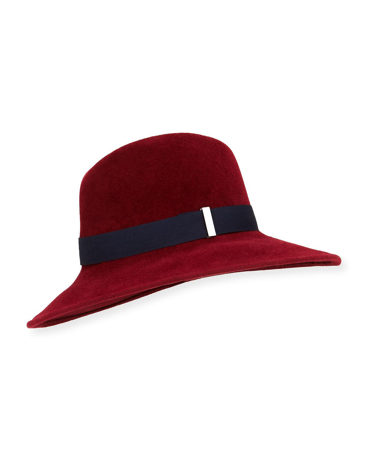 8614a03f60d7b Gigi Burris Millinery - Red Requiem Hand-blocked Wide-brim Fedora - Lyst