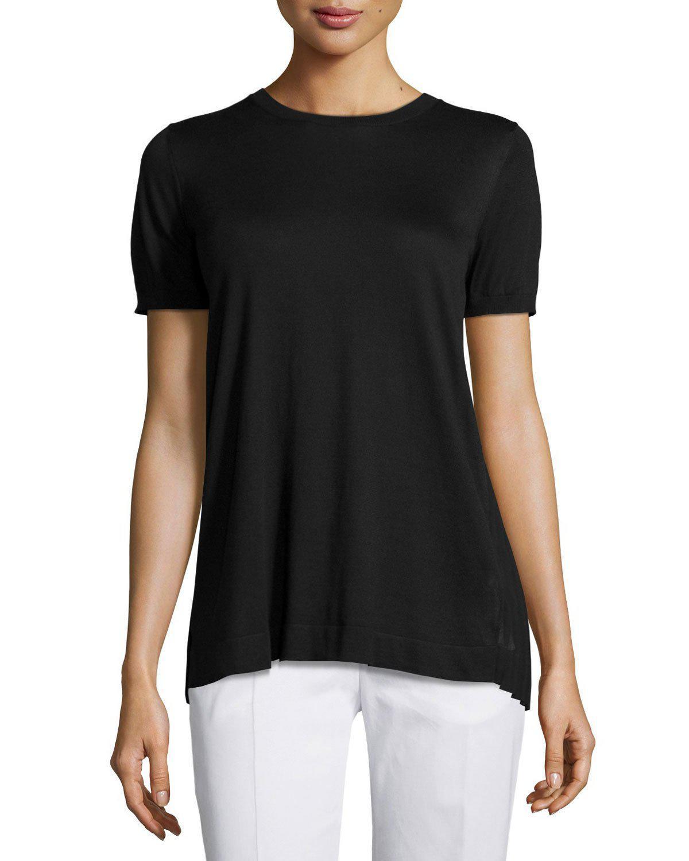 eeace7b5d8335d Lyst - Agnona Pleated-back Knit Top in Black