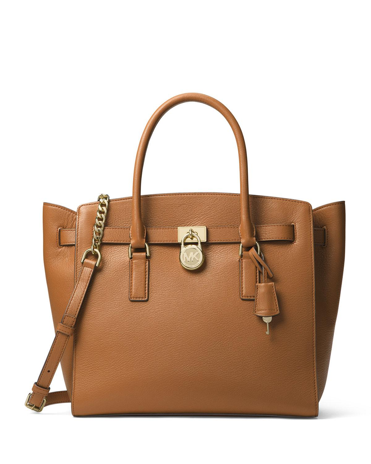8c6b50537699 Lyst - MICHAEL Michael Kors Hamilton Extra Large Leather Tote Bag in ...