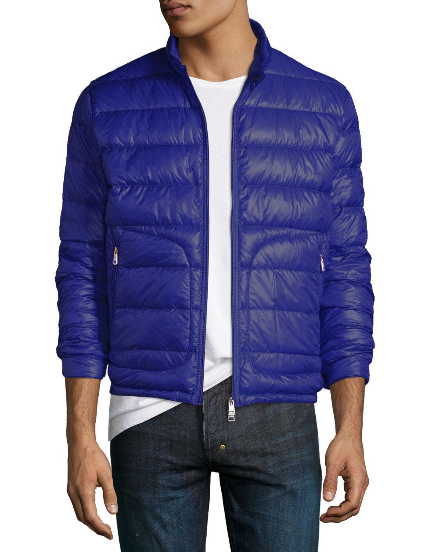 242e7e5f4baf ... usa lyst moncler acorus down bomber jacket in blue for men c5242 92a70