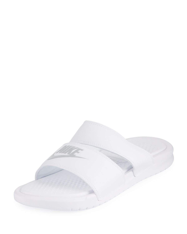 Nike. Women's White Benassi Duo Ultra Pool Sandal